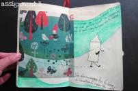 Visual Journaling Camp Pikaland, assignment 3
