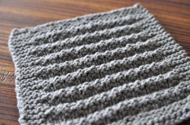 The knitted washcloth