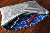 DIY lined pouch