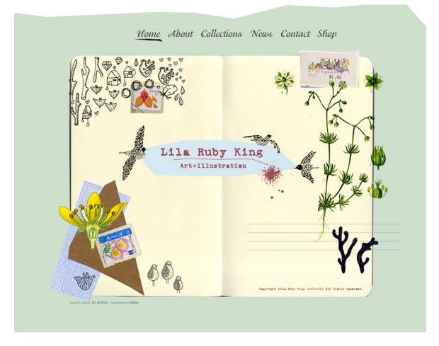 Homepage Lila Ruby King