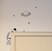 Illustration on school-wall