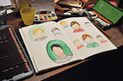 Work in progress: Illustrated faces
